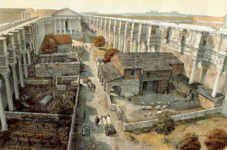 3D-Rekonstruktion des Nerva-Forum, Blog Imperio Romano de Xavier Valderas