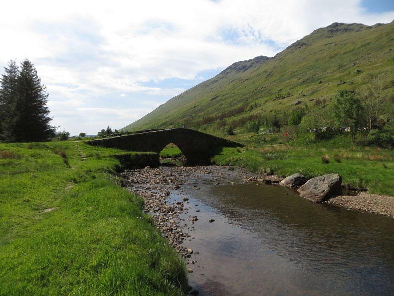 Pause in der schottischen Landschaft