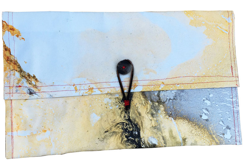 galaxy clutch bag 6 - front | made out of scrap canvas | AVAILABLE | $60
