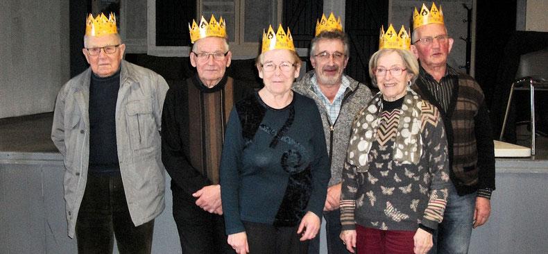 Deux Reines et quatre Rois au Club de l'Amitié d'Etrelles