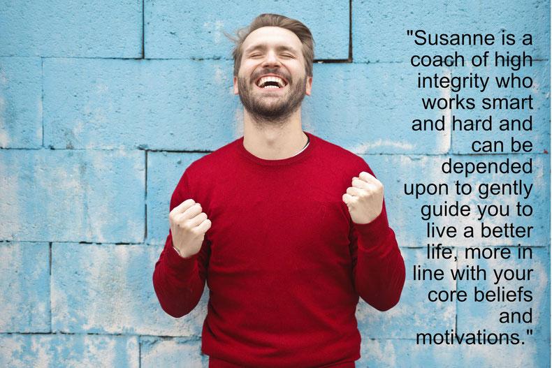 Testimonial about Susanne McCabe's coaching.