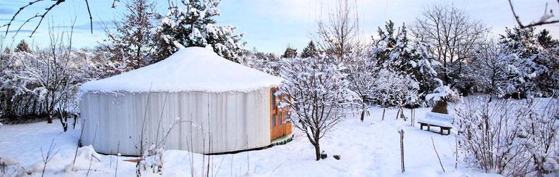 Die Jurte in ihrem 4. Winter