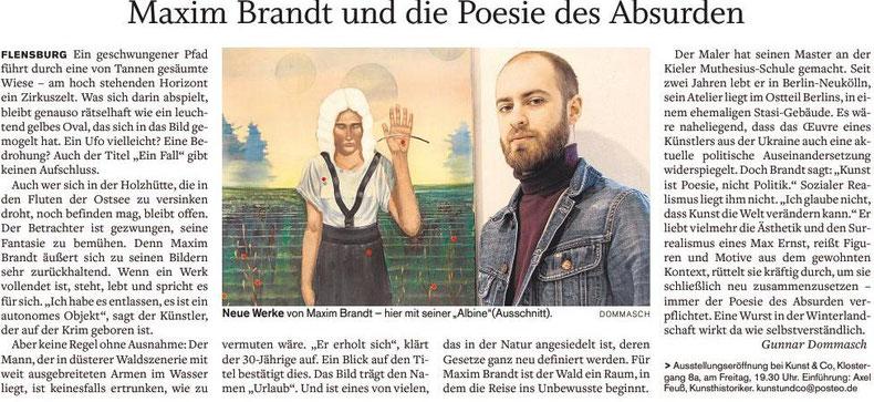 Flensburger Tageblatt zur Eröffnung