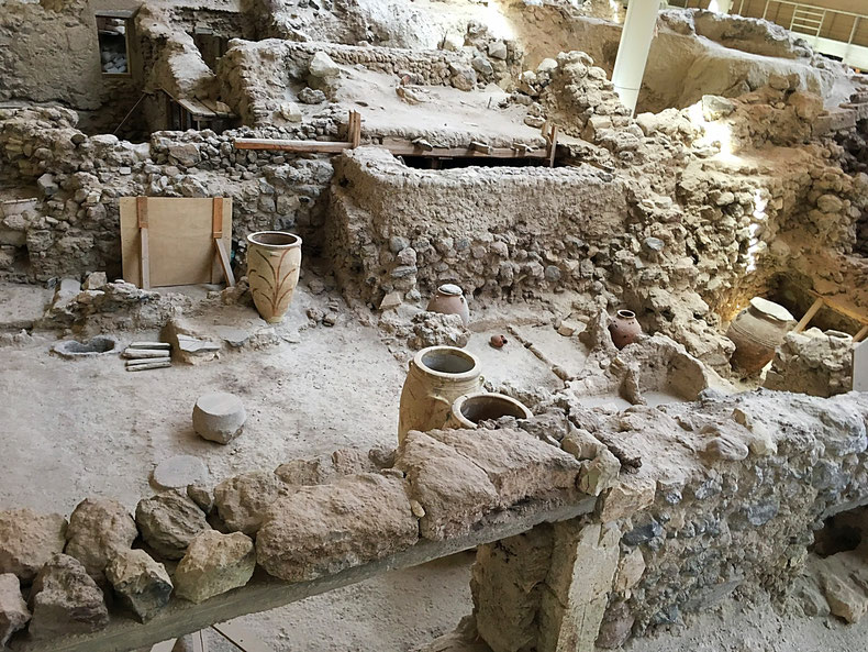 Ausgrabung von Akrotiri