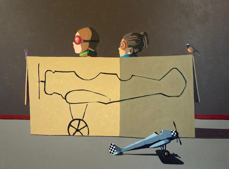 fly away - Acryl auf Leinwand, 120x160cm, 2021 | verkauft