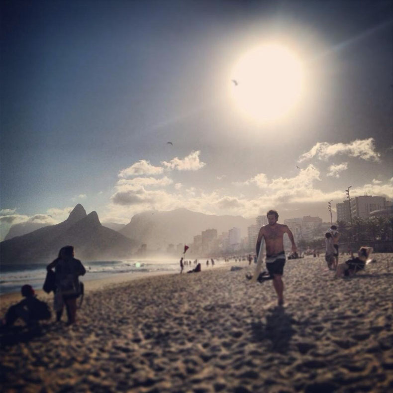 Surfing..@ Ipanema beach