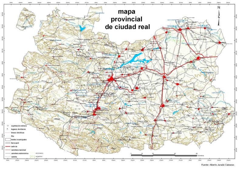 Mapa Provincia Ciudad Real.Mapas Cartograficos Y Tematicos Pagina Web De Sig Soluciones