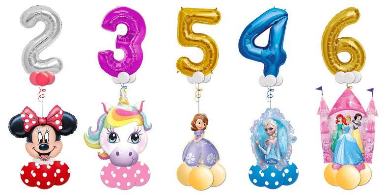 Luftballon Ballon Heliumballon Folienballon Ballongeschenk Ballongruß Bouquet Lizenz Geburtstag Kindergeburtstag Deko Dekoration Mickey Mouse Minnie Einhorn Unicorn Sofia Princess Prinzessin Frozen XXL Zahl Geburtstagszahl