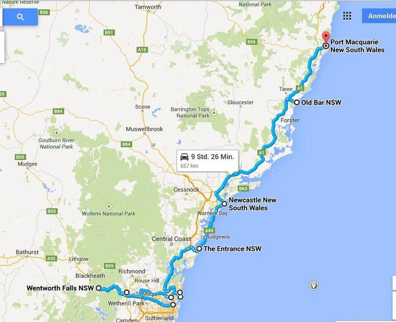 Es geht weiter kreuz und quer: Route 2 - 07.04.2015 bis 11.04.2015