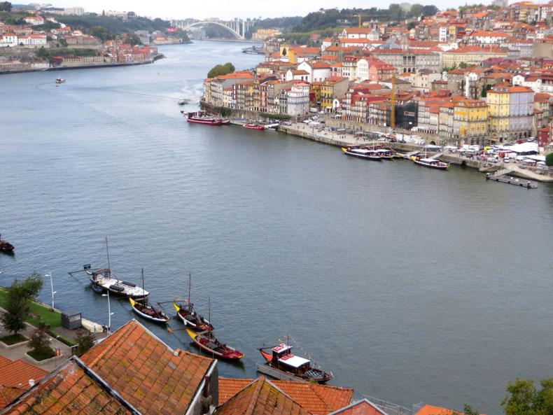 Porto ir Težo upė nuo tilto - piligrimų kelias