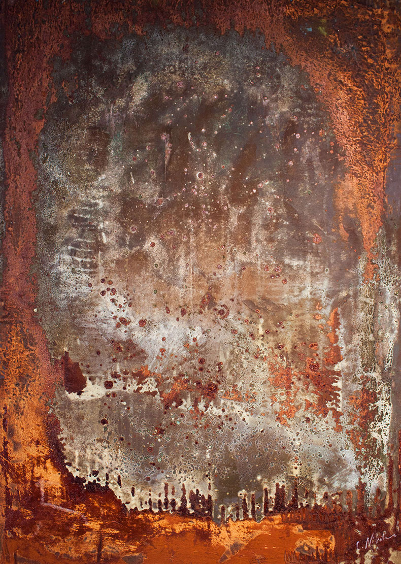 150 x 100 cm Rostbild mit Patina