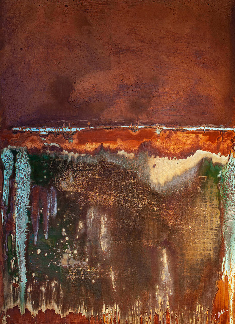 150 x 100 cm Rustpainting with Patina