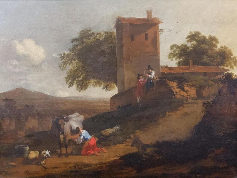 te_koop_aangeboden_een_schilderij_van_de_kunstschilder_nicolaes_berchem_i_1621/2-1683_oude_meesters_17e_eeuw