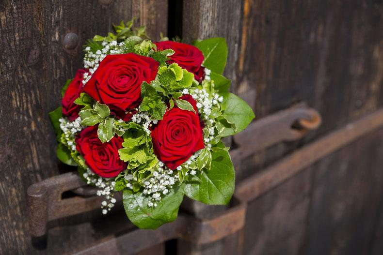 Hochzeit Rosen Hochzeitsstrauß Tom River
