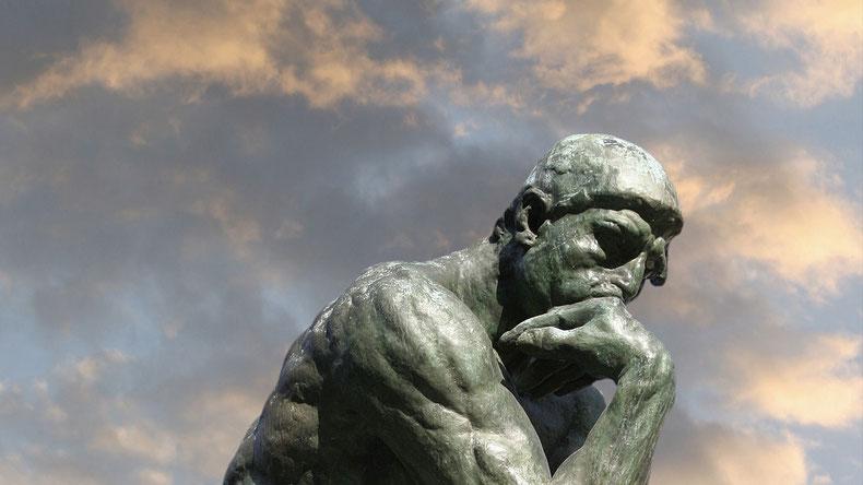 """A. Rodin, """"Il pensatore"""" (1880-1902)"""