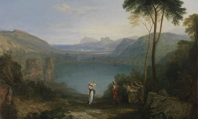 "William Turner, ""Il lago d'Averno, Enea e la Sibilla Cumana"" (1798)"