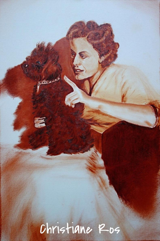Porträt in Öl im Stil der 50er-Jahre © Christiane Ros