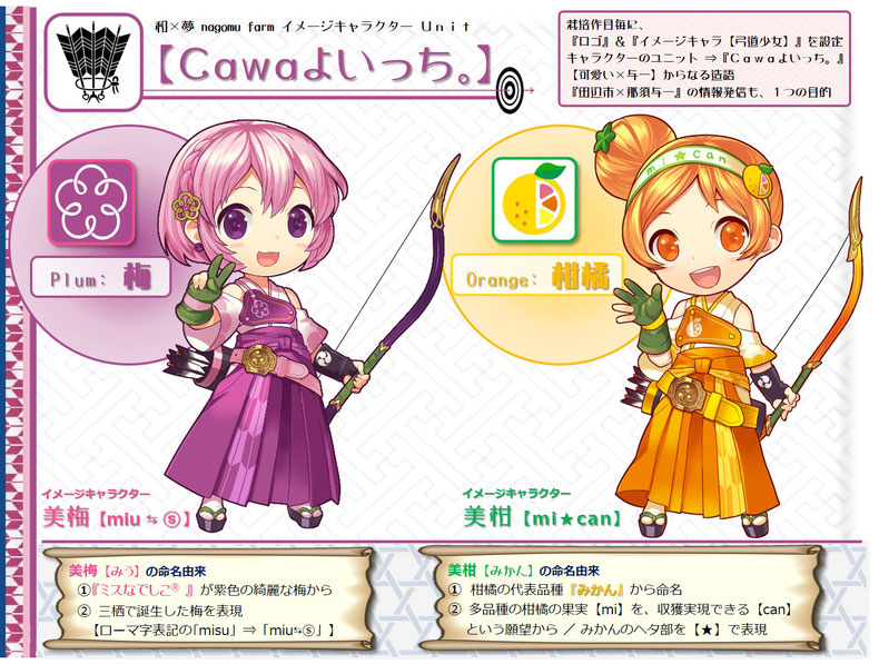 『Cawaよいっち。』 和×夢 nagomu farm character unit