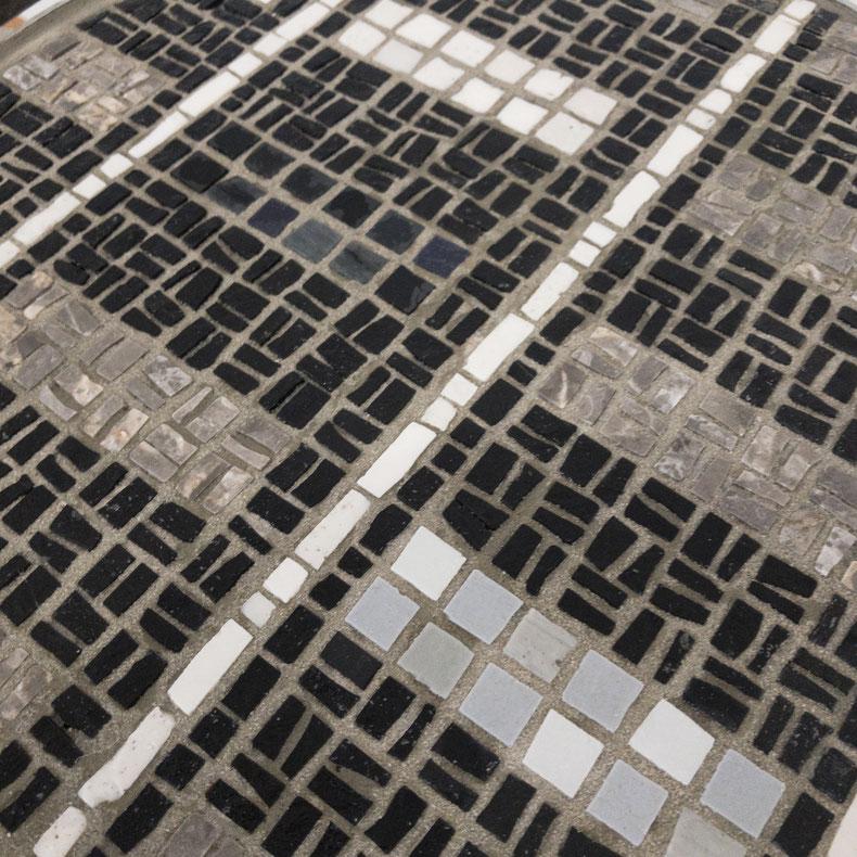Francesca Macherone, Mosaik, Mosaic, Mosaico, la camera chiara, la camera chiara berlin, berlin galerie, kunst galerie, kunst, art gallery berlin, tisch, table, mosaic table, mosaik tisch, tavolo mosaico