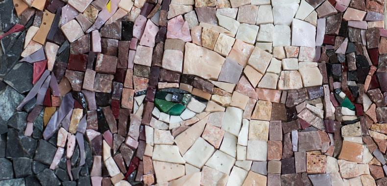 Francesca Macherone, Mosaik, Mosaic, Mosaikkunst, la camera chiara, la camera chiara berlin, berlin galerie, berlin ausstellungen, david bowie, kunst, art gallery berlin, foto galerie berlin,