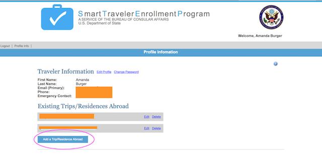 smart traveler enrollment program for us citizens traveling abroad