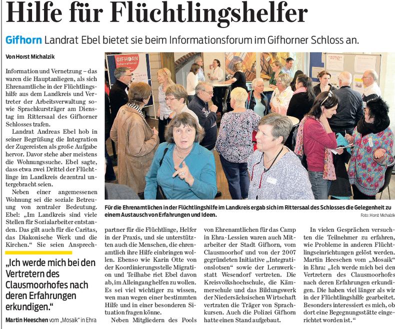 Gifhorner Rundschau vom 14.4.2016