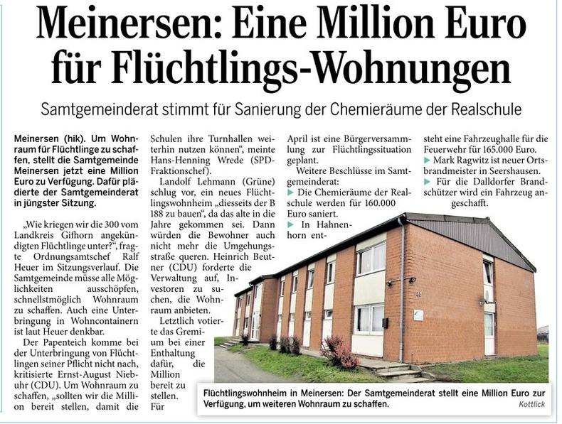 Aller-Zeitung vom 12.3.2016
