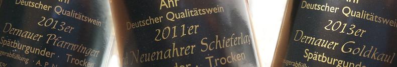 Weine vom Weingut Reinhold Riske an der Ahr