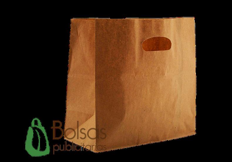 Bolsa de Papel Kraft con Asa Suajada