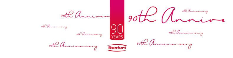90. Firmenjubiläum Muster Etikett