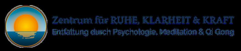 Das Logo mit Schriftzug des Zentrums für Ruhe, Klarheit & Kraft