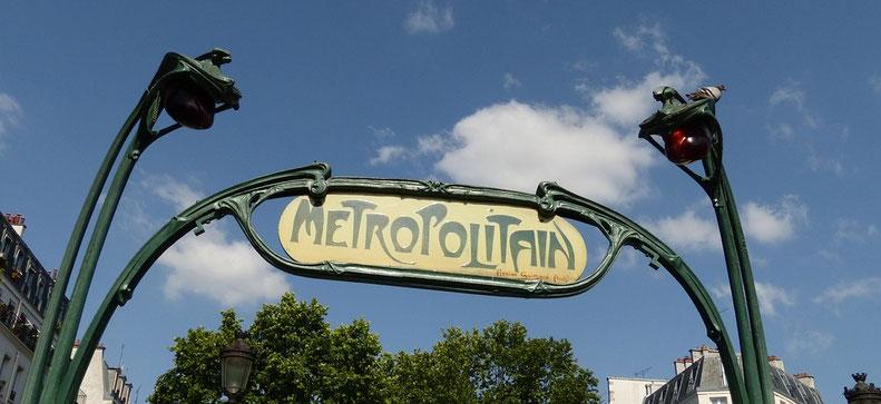 Entrée de métro Parisien