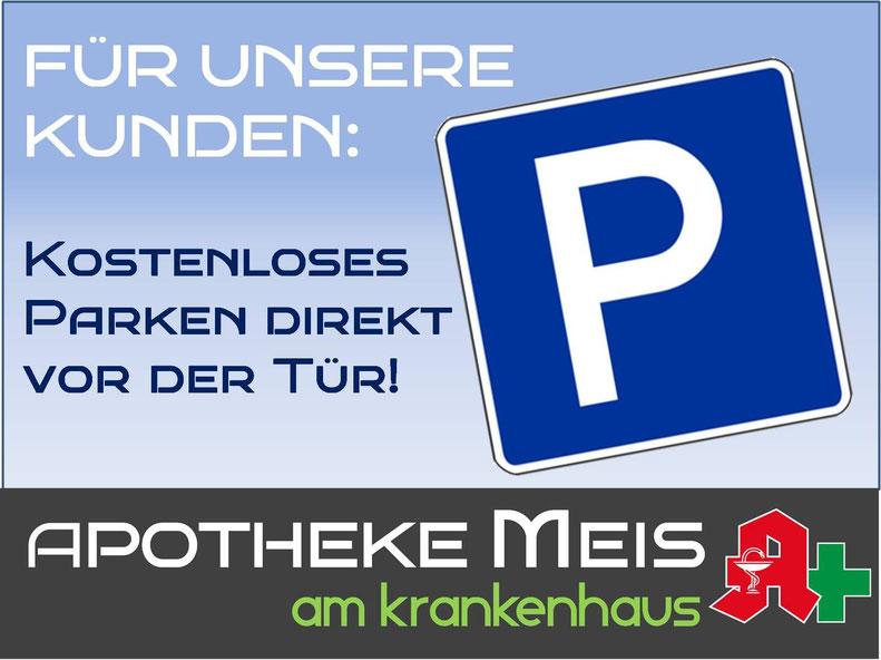 Parkplatz kostenlos MVZ Apotheke Meis am Krankenhaus Cloppenburg