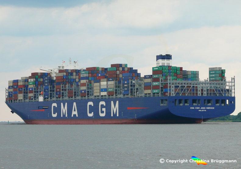 """Erstanlauf Hamburg Containerschiff """"CMA CGM JEAN MERMOZ, 12.07.2018"""