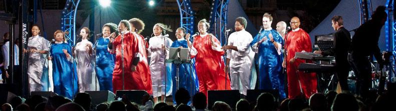 Le Chœur Gospel de Paris sur scène