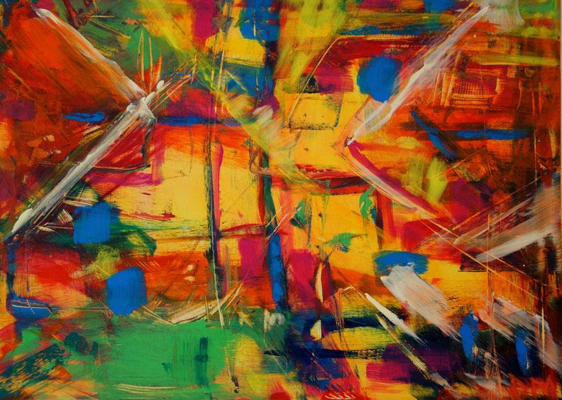 Abstrakte gem lde modern art atelier farblust kunst for Bilder modern art