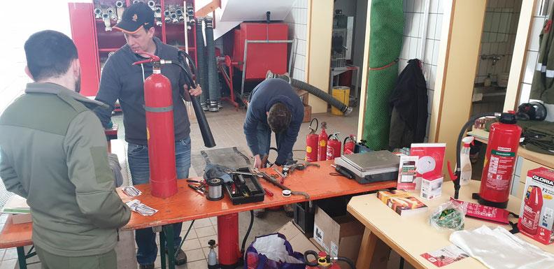 Feuerlöscherüberprüfung am 15.02.2020