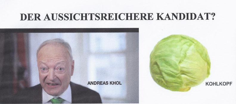 Andreas Khol Kohlkopf Dietmar Fuessel