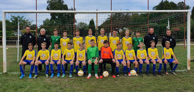 Mannschaftsbild der C-Jugend SpG Döbern/Gahry Saison 2020/21