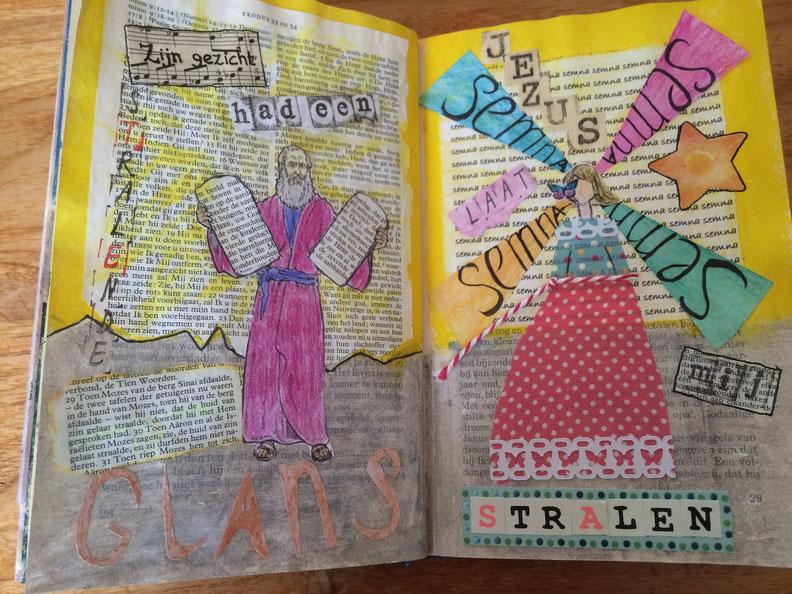 Voorbeeld biblejournaling exodus34