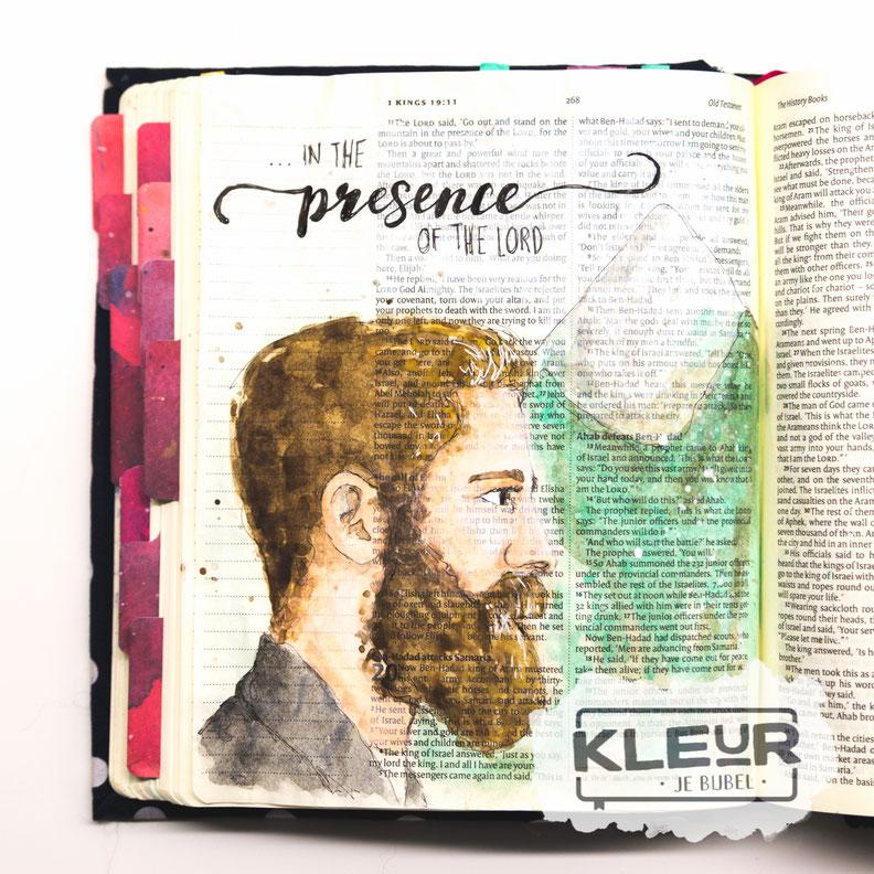 Voorbeeld biblejournaling 1 koningen 19