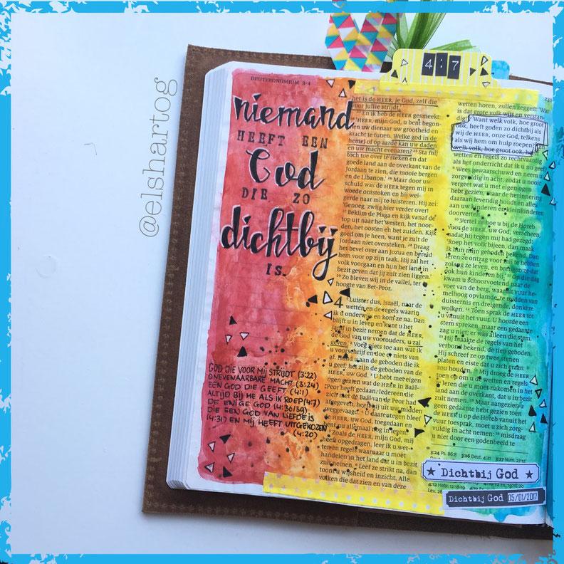 Voorbeeld biblejournaling Deuteronomium 4:7