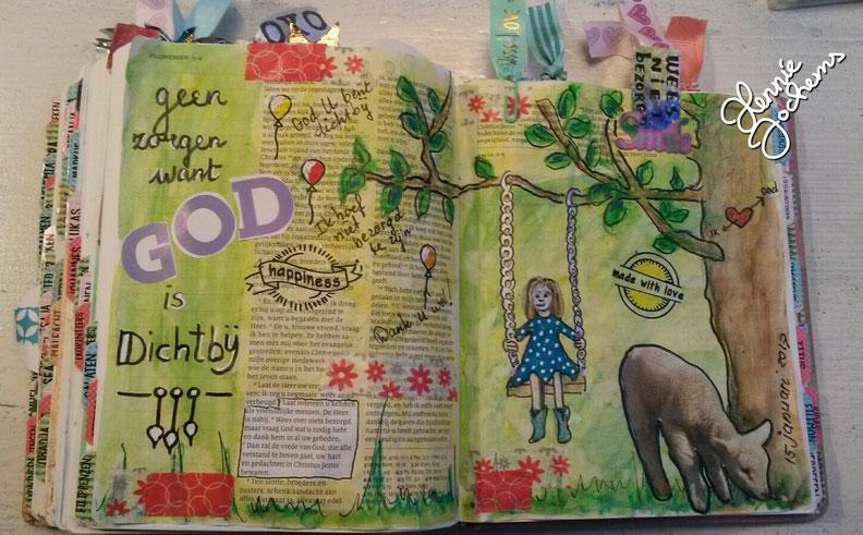 voorbeeld biblejournaling Filippenzen 4