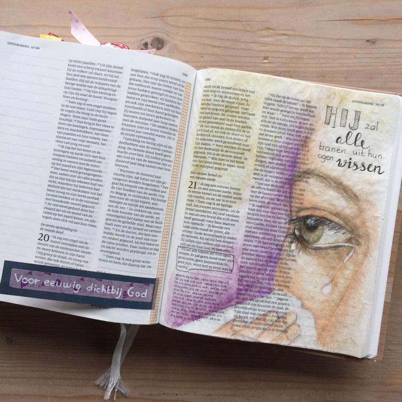 Voorbeeld biblejournaling Openbaring 21