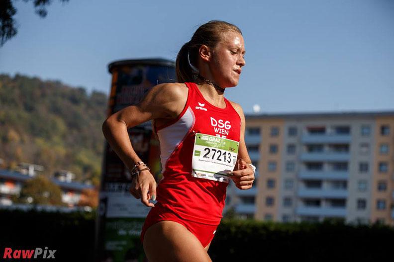 Vizestaatsmeisterin Halbmarathon Graz Halbmarathon 2018 Marathon Graz Staatsmeisterschaften Sieg 2. Platz Austrian Athletics