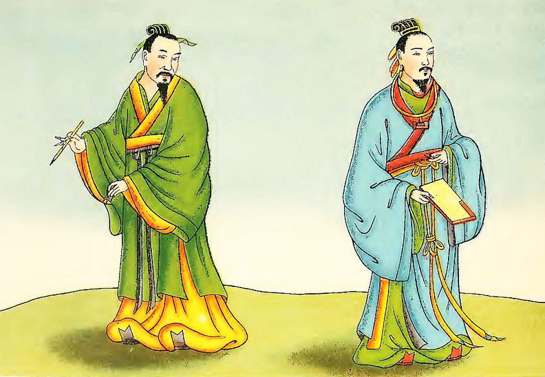 Lettrés des premiers Han. Henri Doré : ... Superstitions en Chine. Troisième partie : Popularisation des trois religions. La doctrine du confucéisme (Jou-kiao). Variétés sinologiques n° 51, Zi-ka-wei, 1919.