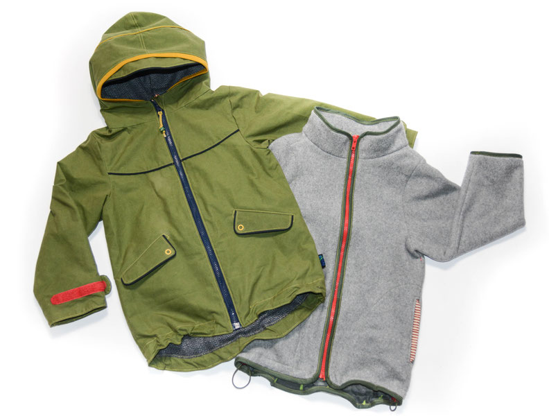 Zip-In-Jacke Zip-In-System Rinnjezippt Merchant&Mills Dry Oilskin
