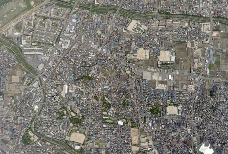 殿ニ校区 航空写真 平成20年