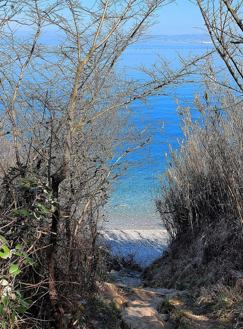 Ende des Weges, Ankunft am Strand