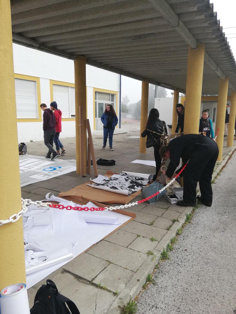 préparation du matériel et explications du déroulement
